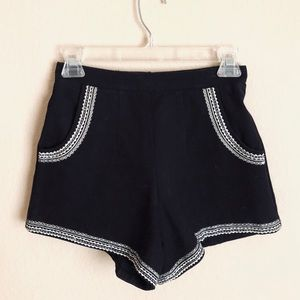 Lovers+Friends black high rise shorts, size XS